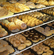Case of Donuts and Pastries
